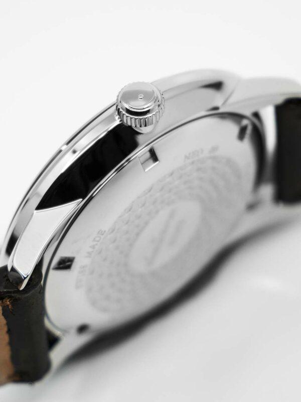 refective backside of watch.