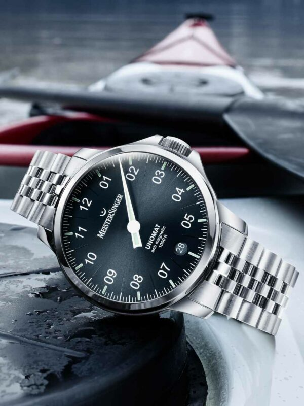 watch on wet surface.